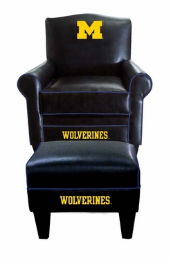 Michigan Game Time Chair and Ottoman