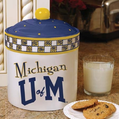 Michigan Gameday Ceramic Cookie Jar