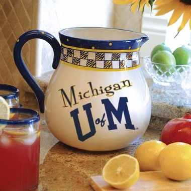 Michigan Gameday Ceramic Pitcher