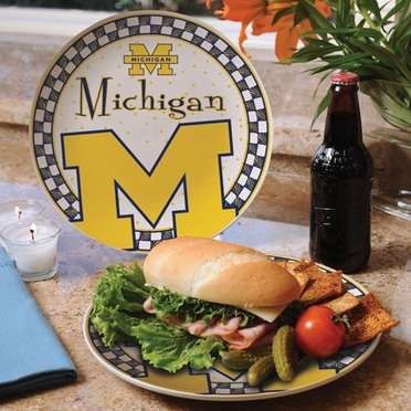 Michigan Gameday Ceramic Plate