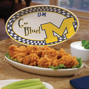 Michigan Gameday Ceramic Platter
