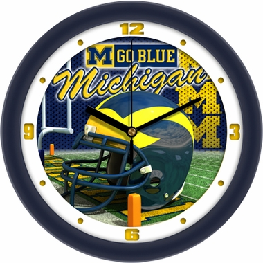 Michigan Helmet Wall Clock