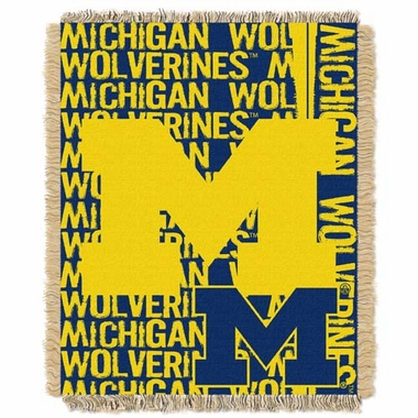 Michigan Jacquard Woven Throw Blanket