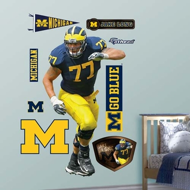 Michigan Jake Long Michigan Fathead Wall Graphic