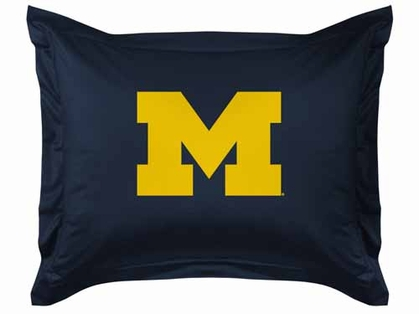 Michigan Jersey Material Pillow Sham