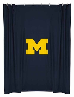 Michigan Jersey Material Shower Curtain