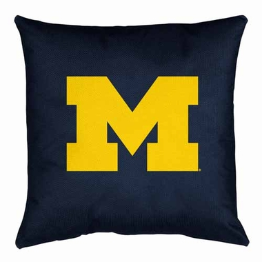 Michigan Jersey Material Toss Pillow