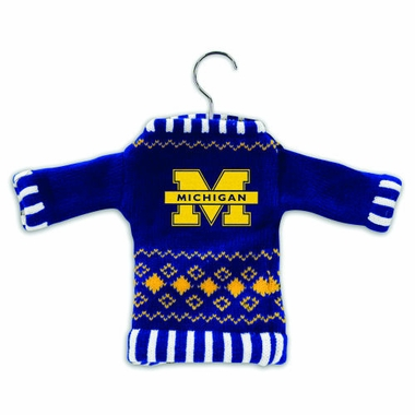 Michigan Knit Sweater Ornament (Set of 3)