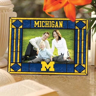 Michigan Landscape Art Glass Picture Frame