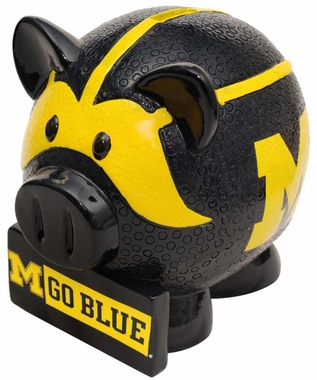 Michigan Wolverines Piggy Bank - Thematic Large