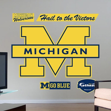 Michigan Logo Fathead Wall Graphic