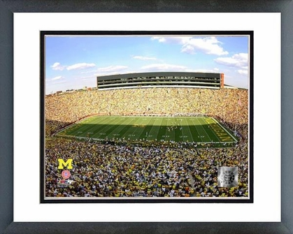 Michigan Michigan Stadium University of Michigan Wolverines 2009 16x20 Framed and Double-Matted Photo
