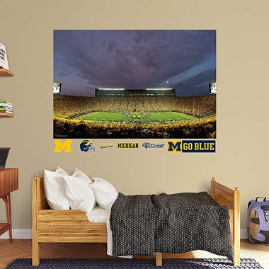Michigan Night Game Mural Fathead Wall Graphic
