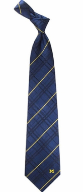 Michigan Oxford Stripe Woven Silk Necktie