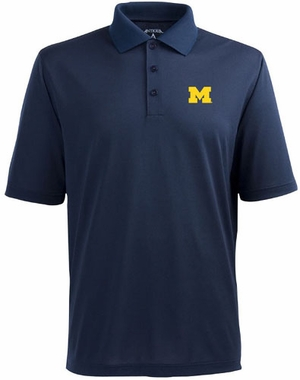 Michigan Mens Pique Xtra Lite Polo Shirt (Team Color: Navy)