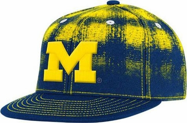 Michigan Plaid Flat Visor Flex Hat