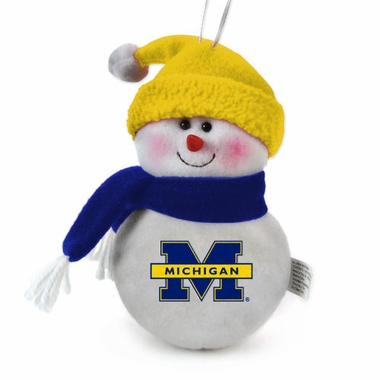 Michigan Plush Snowman Ornament (Set of 3)