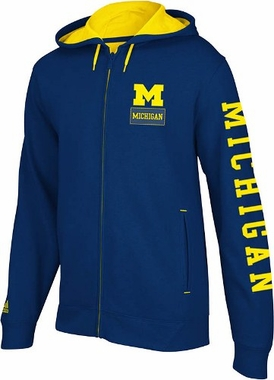 Michigan Pride Full Zip Hooded Sweatshirt