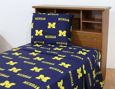 Michigan Printed Sheet Set King - Solid