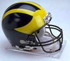 Michigan Riddell Full Size Authentic Helmet