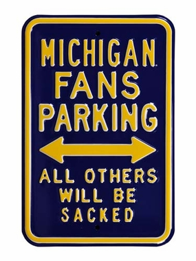 Michigan / Sacked Parking Sign