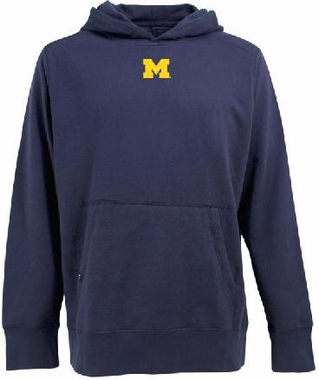 Michigan Mens Signature Hooded Sweatshirt (Team Color: Navy)