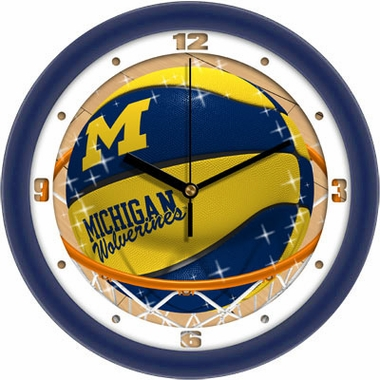 Michigan Slam Dunk Wall Clock