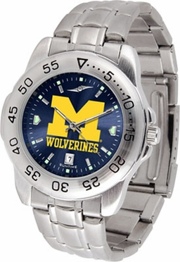 Michigan Sport Anonized Men's Steel Band Watch