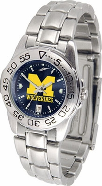 Michigan Sport Anonized Women's Steel Band Watch