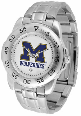 Michigan Sport Men's Steel Band Watch