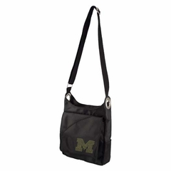 Michigan Sport Noir Sheen Crossbody Bag