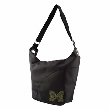 Michigan Sport Noir Sheen Hobo Purse
