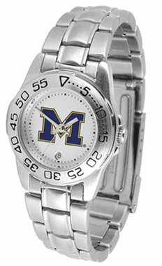 Michigan Sport Women's Steel Band Watch
