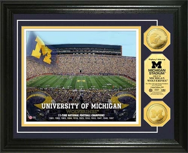 Michigan Wolverines University of Michigan Stadium Gold Coin Photo Mint