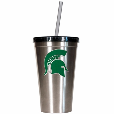 Michigan State 16oz Stainless Steel Insulated Tumbler with Straw