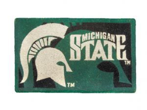 Michigan State 18x30 Bleached Welcome Mat