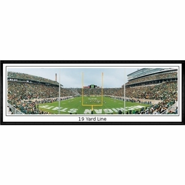 Michigan State 19 Yard Line Framed Panoramic Print