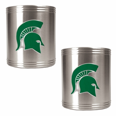Michigan State 2 Can Holder Set