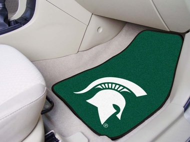 Michigan State 2 Piece Car Mats