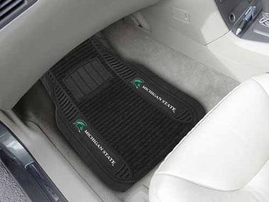 Michigan State 2 Piece Heavy Duty DELUXE Vinyl Car Mats