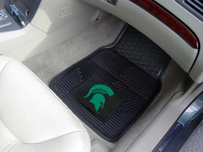 Michigan State 2 Piece Heavy Duty Vinyl Car Mats