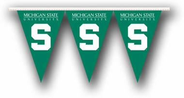 Michigan State 25 Foot String of Party Pennants (P)