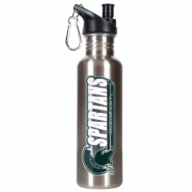 Michigan State 26oz Stainless Steel Water Bottle (Silver)
