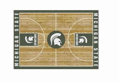 "Michigan State 3'10"" x 5'4"" Premium Court Rug"
