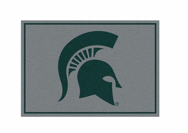 "Michigan State 3'10"" x 5'4"" Premium Spirit Rug"