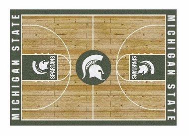 "Michigan State 5'4"" x 7'8"" Premium Court Rug"