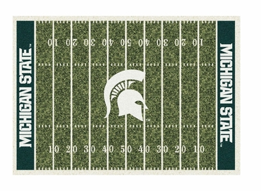 "Michigan State 5'4"" x 7'8"" Premium Field Rug"