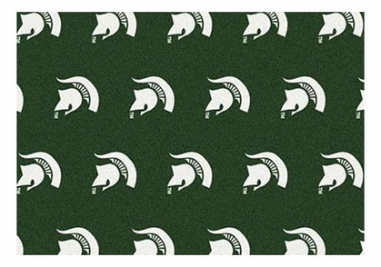 "Michigan State 5'4"" x 7'8"" Premium Pattern Rug"