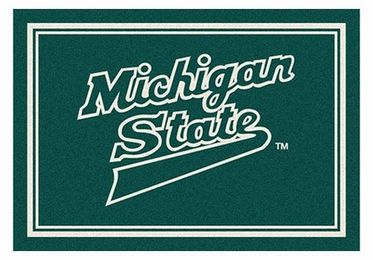 "Michigan State 5'4"" x 7'8"" Premium Spirit Rug"