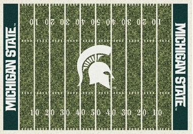 "Michigan State 7'8"" x 10'9"" Premium Field Rug"